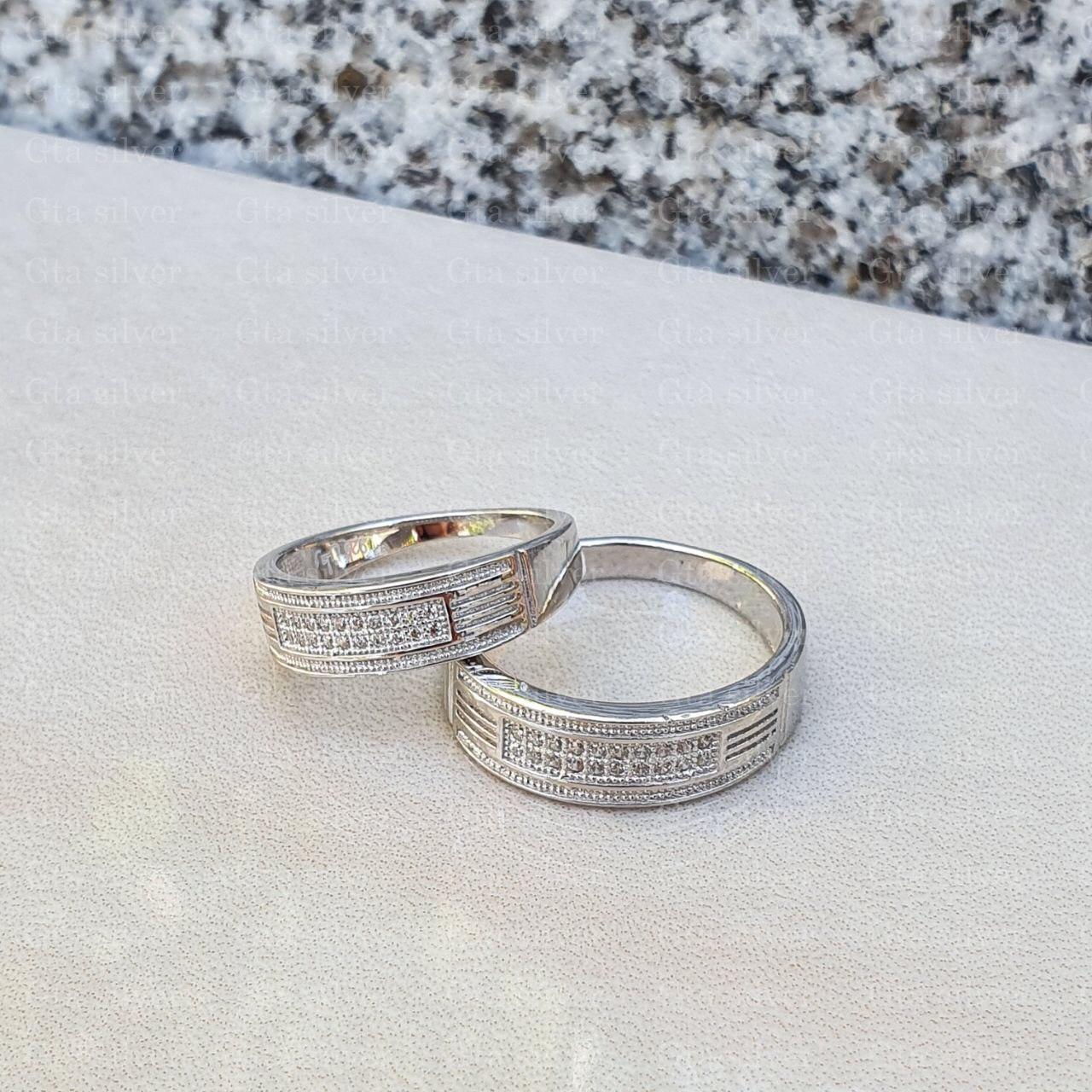 ست حلقه ازدواج وزن 8.5 گرم مدل 44