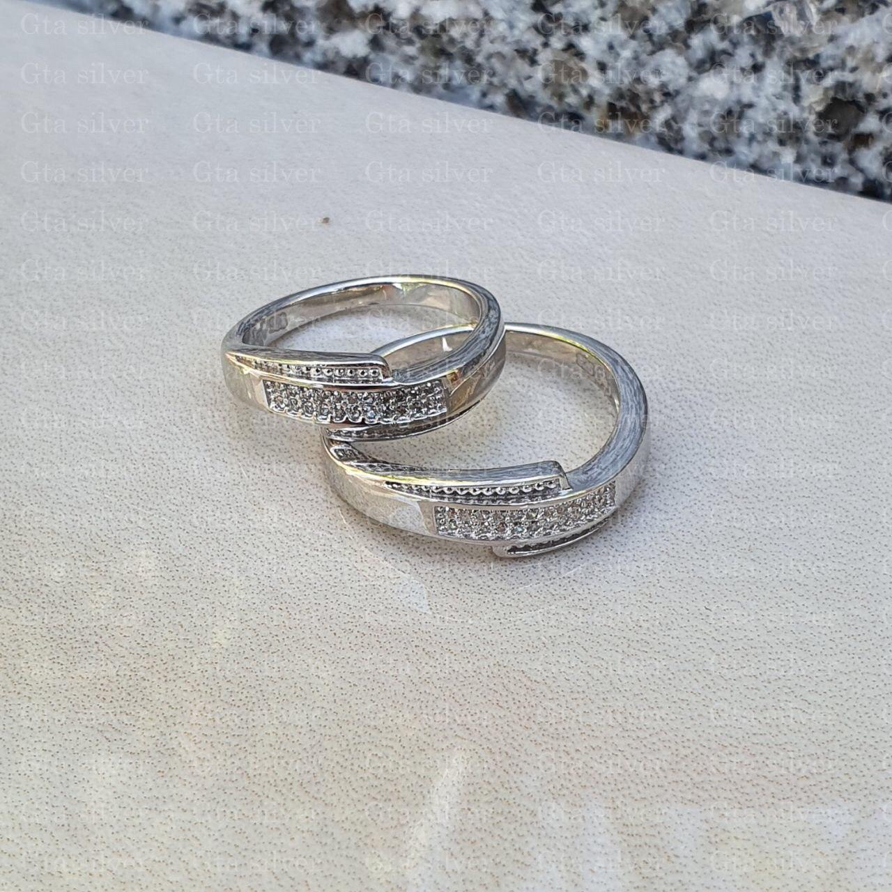 ست حلقه ازدواج وزن 7 گرم مدل 46