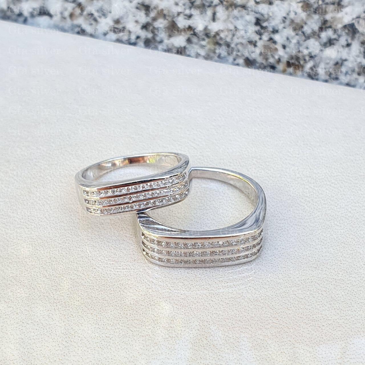 ست حلقه ازدواج وزن 8.5 گرم مدل 51