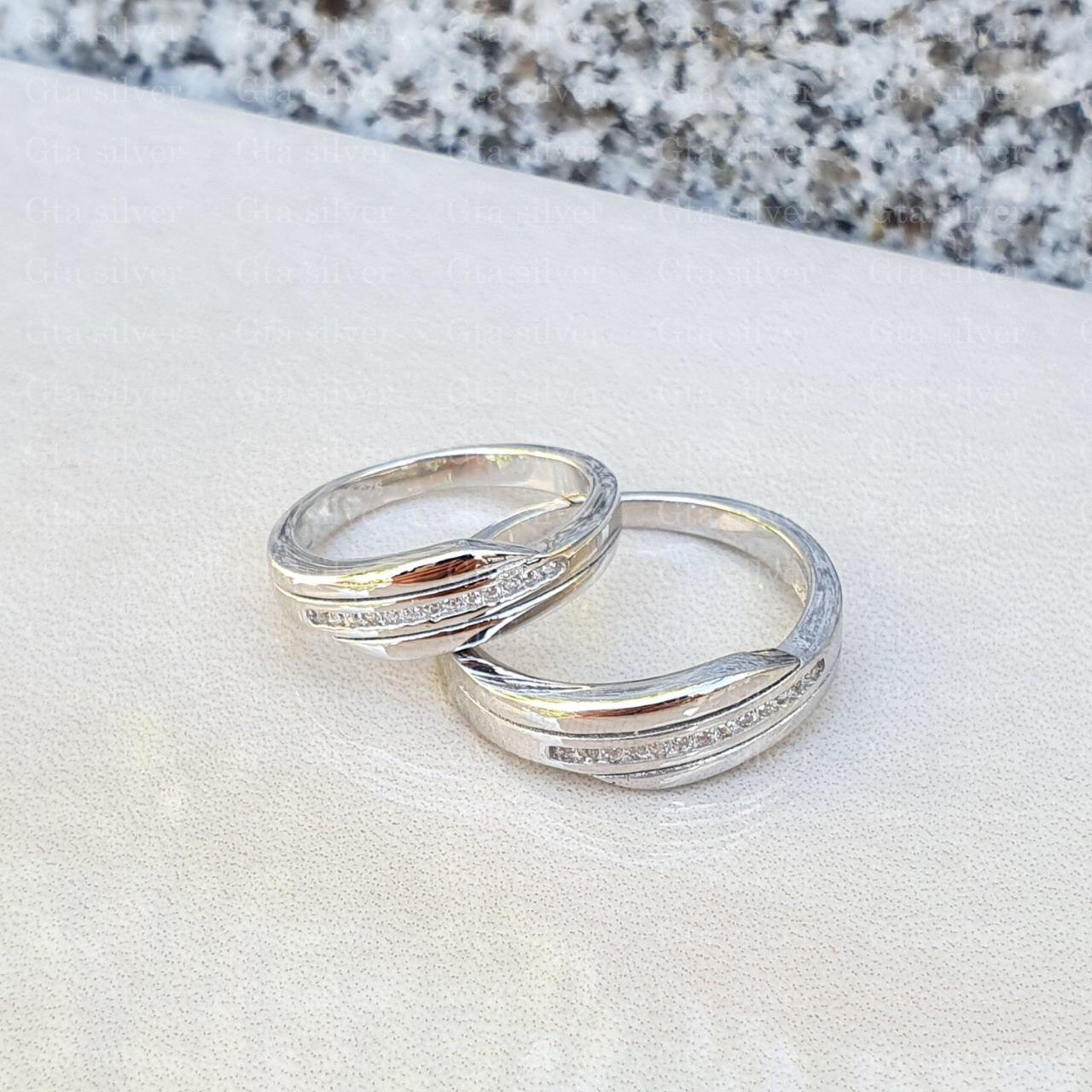 ست حلقه ازدواج وزن 8.5 گرم مدل 52