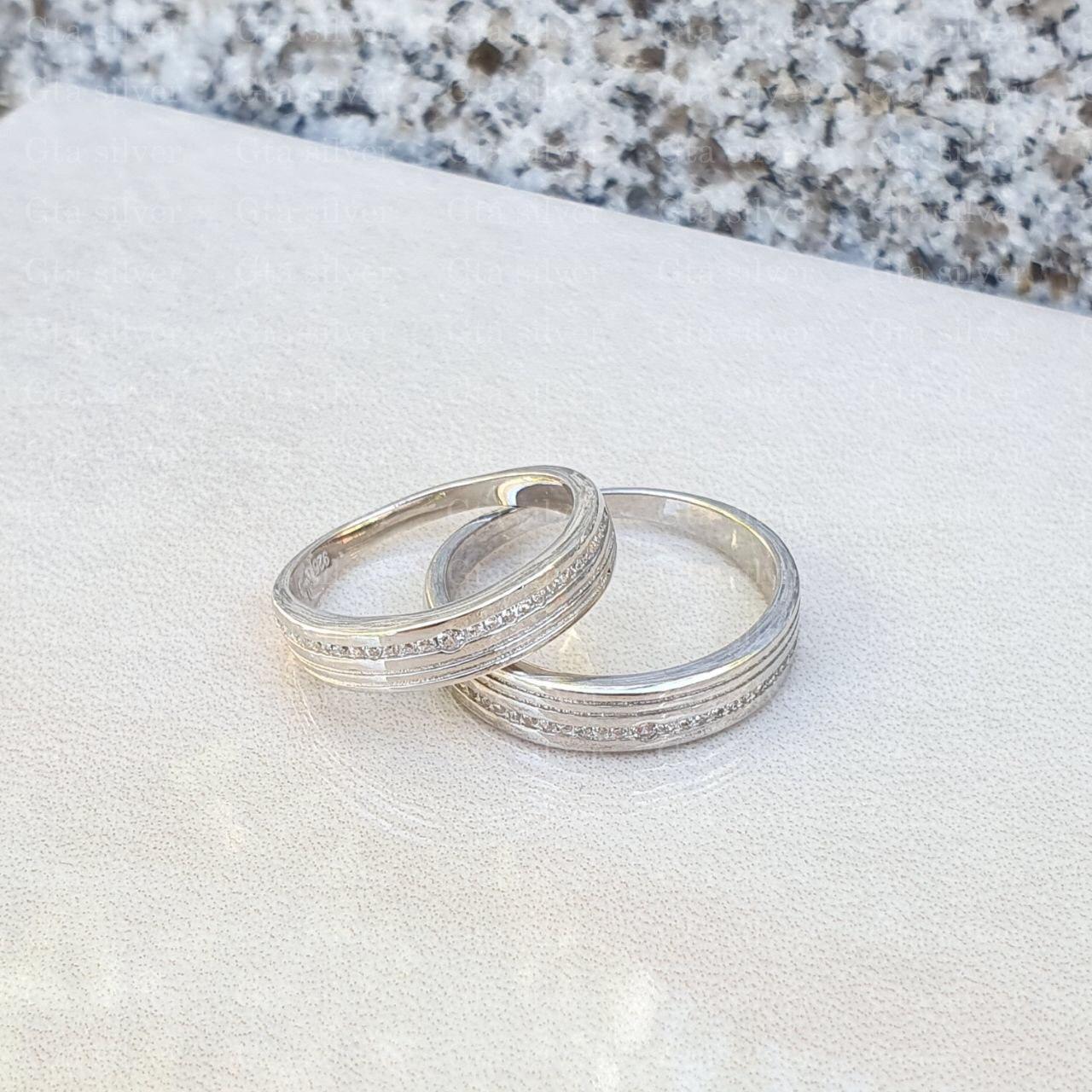 ست حلقه ازدواج وزن 6.5 گرم مدل 53