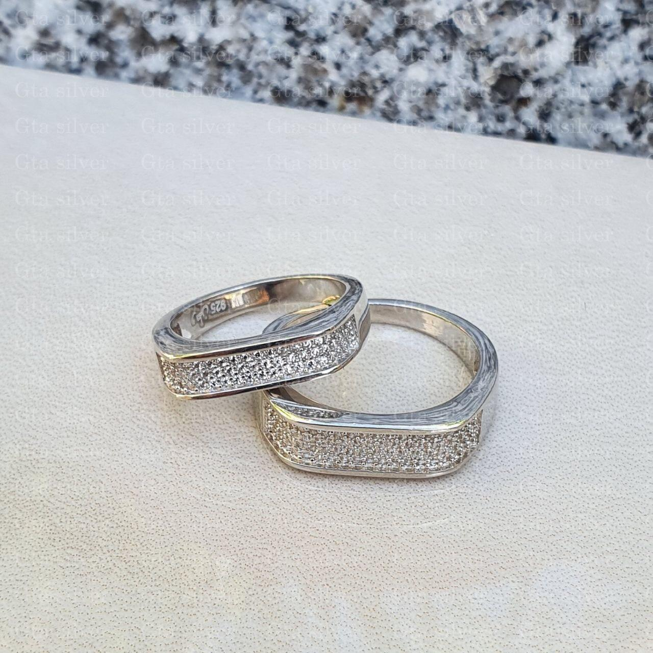 ست حلقه ازدواج وزن 8.5 گرم مدل 57