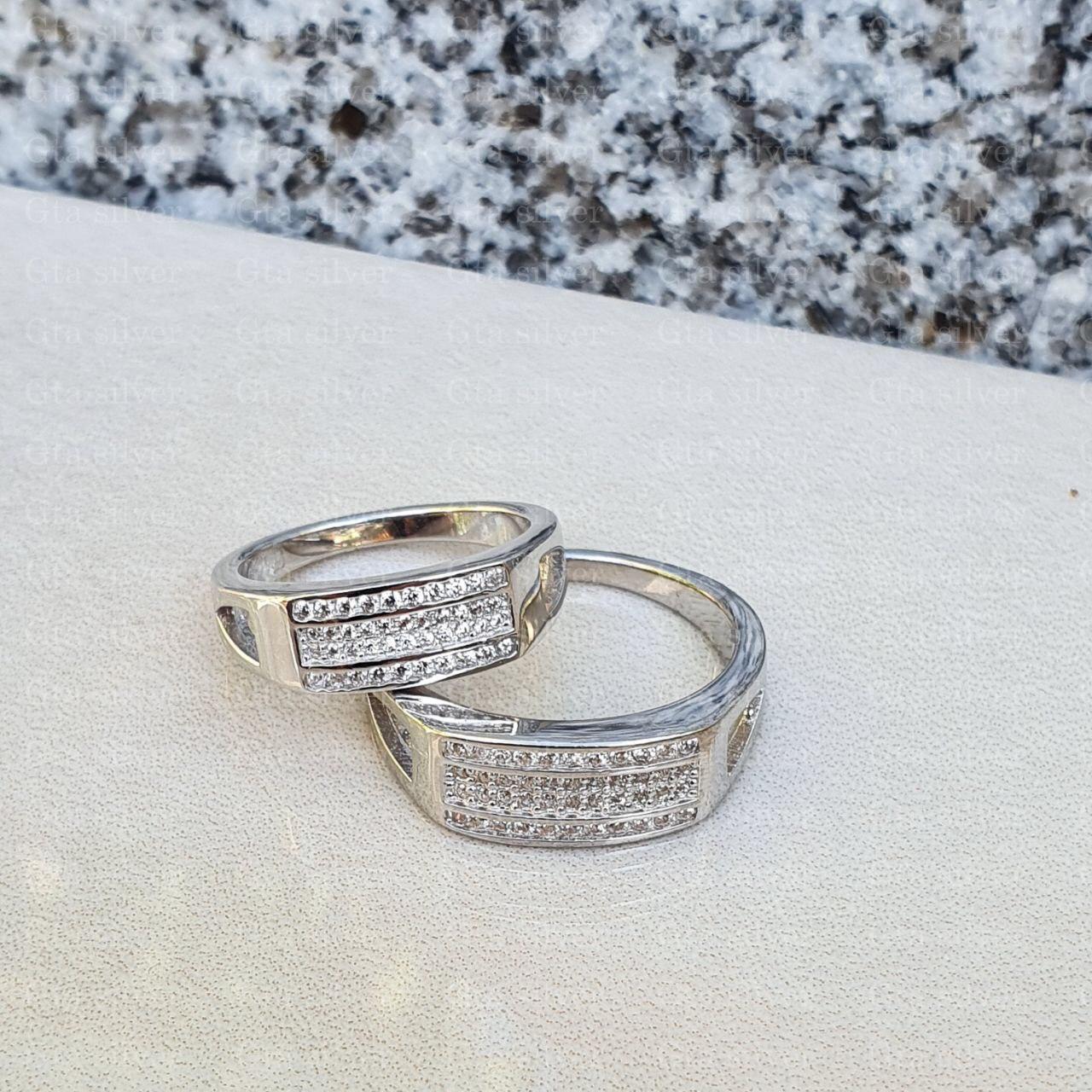 ست حلقه ازدواج وزن 9.5 گرم مدل 59