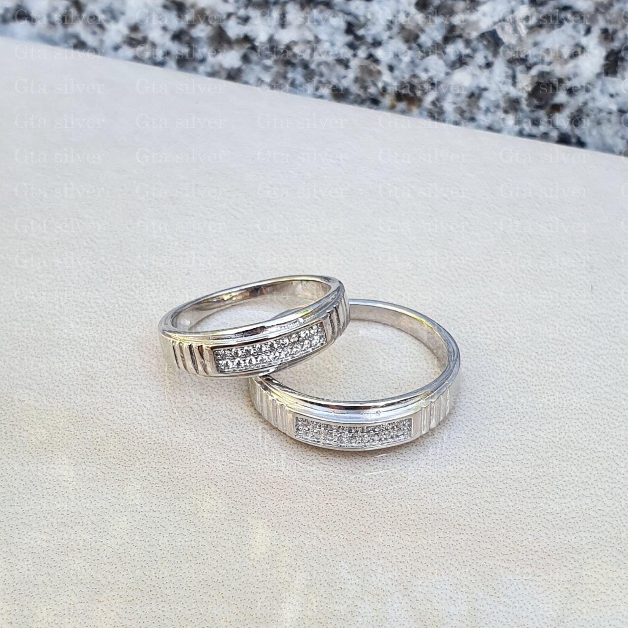ست حلقه ازدواج وزن 6 گرم مدل 60
