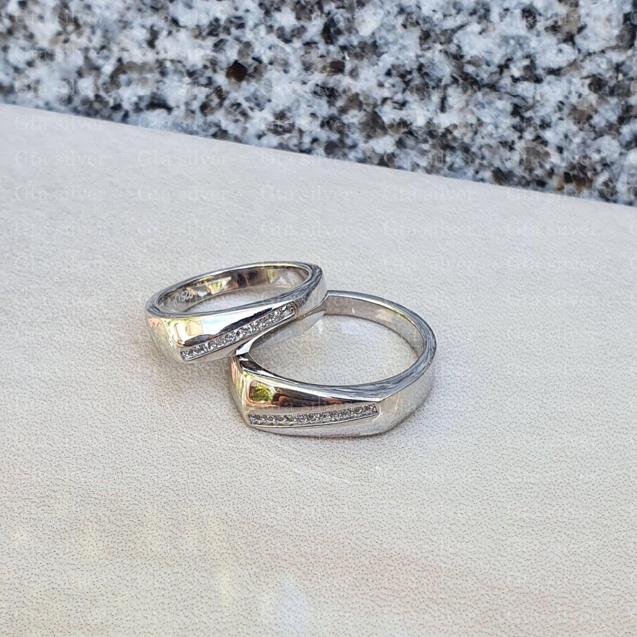 ست حلقه ازدواج وزن 8.5 گرم مدل 64