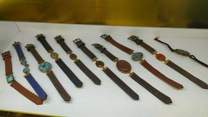 دستبند چرم فیروزه و عقیق