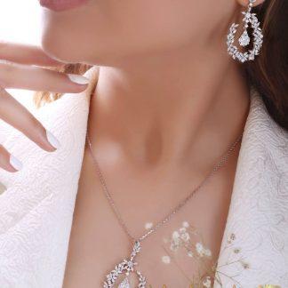 ست نقره جواهری عیار 925 مدل 1535-1
